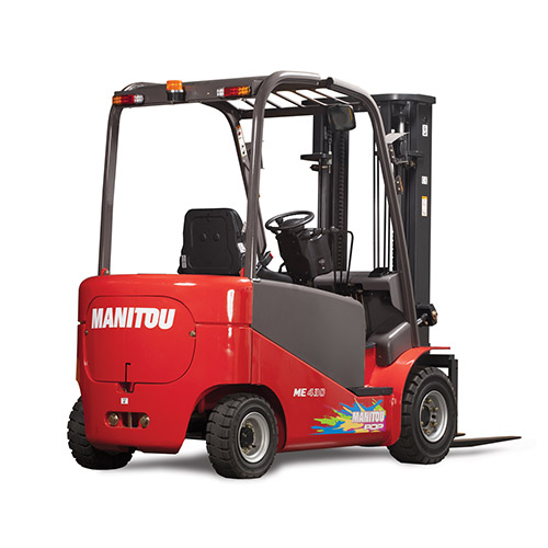 Picture showing a rear view of a Manitou Lift Truck