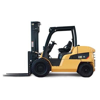 Picture showing a side-view of a CAT Lift Truck