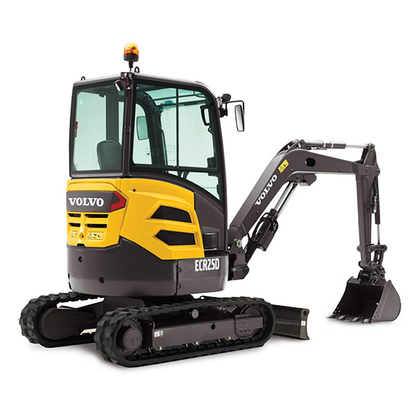 Picture showing a Volvo Mini Excavator