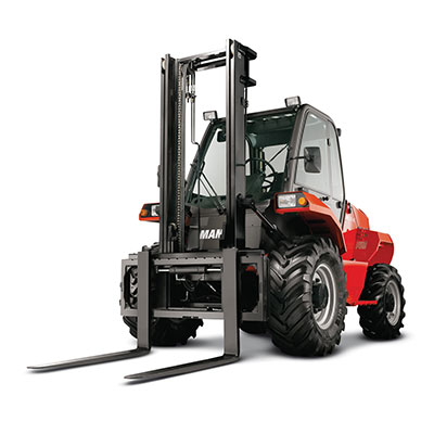 Picture showing a front-view of a Manitou Lift Truck