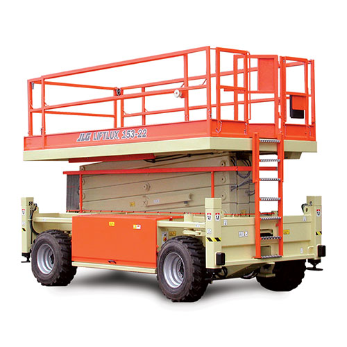 Picture showing a front-view of a JLG Scissor Lift